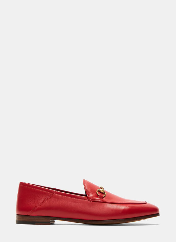 Gucci Jordaan Classic Leather Slip-On Loafers 1