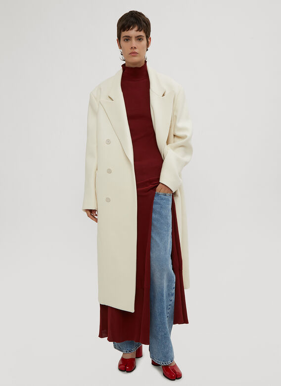 Maison Margiela Cut-out Back Double Breasted Coat