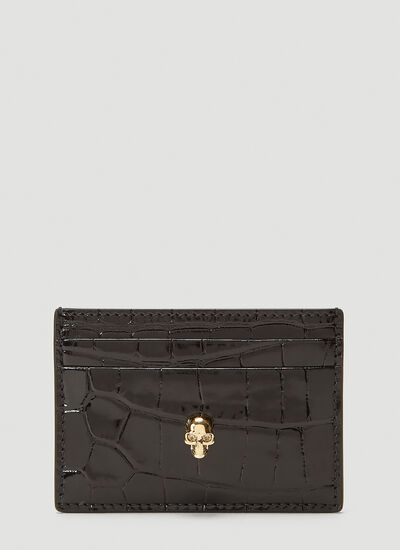 Alexander McQueen Skull Embossed Card Holder