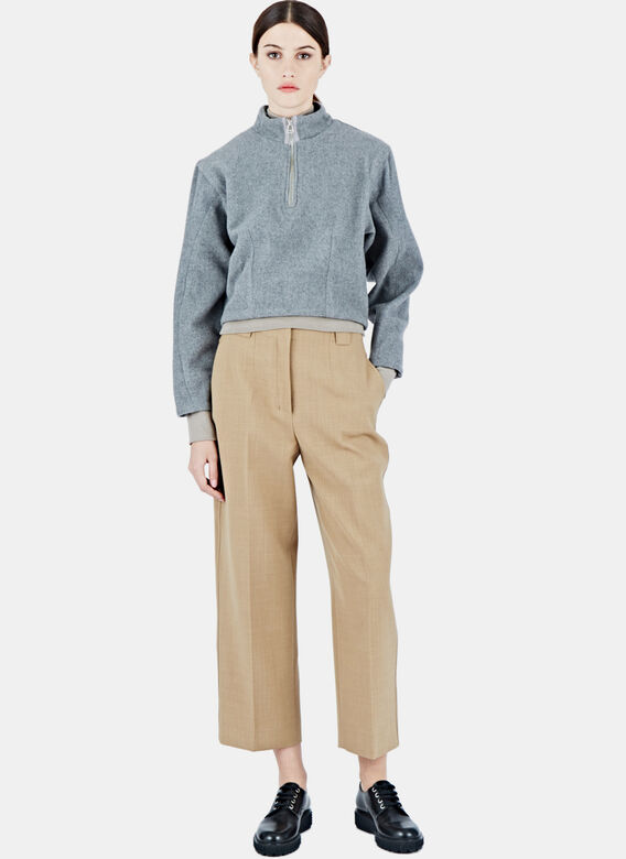 Eckhaus Latta Cropped Zipped Sweater