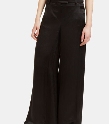 Oversized Flared Satin Pants