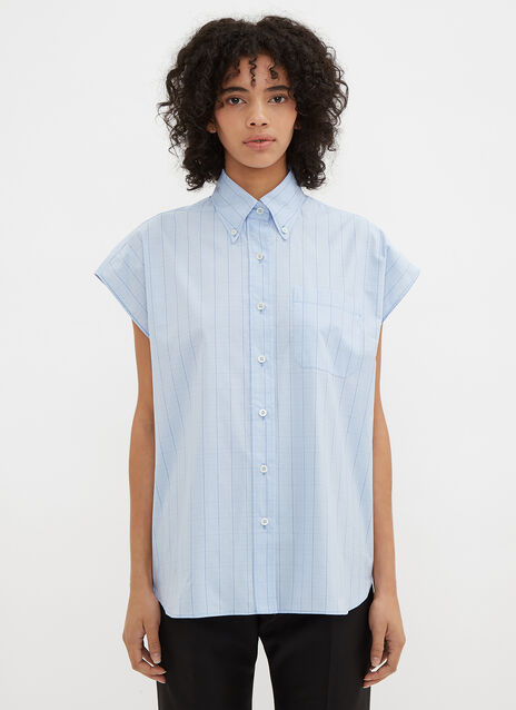 Miu Miu Sleeveless Check Shirt