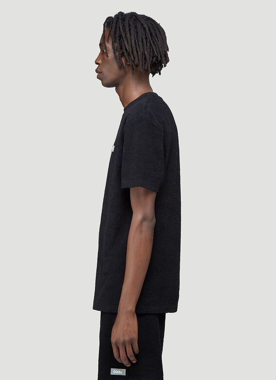 """032C """"Topos"""" Shaved Terry T-Shirt Black 100% CO 3"""