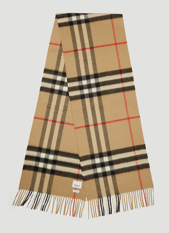 Burberry Vintage Check Knit Scarf 3