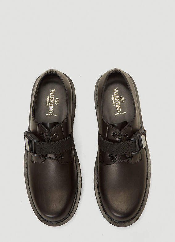 Valentino Buckle-Detail Lace-Up Shoes 2