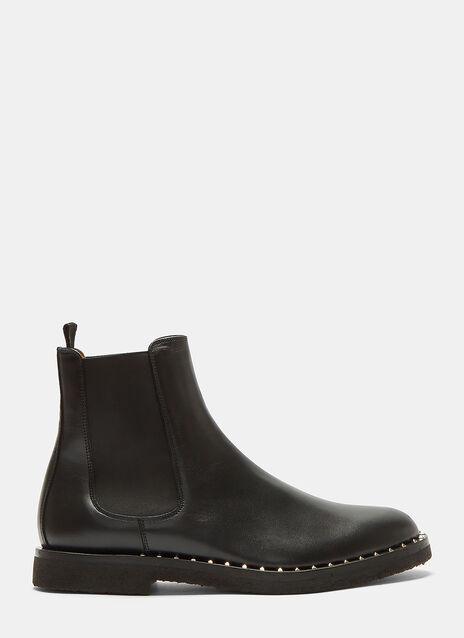 Pyramid-Studded Chelsea Boots