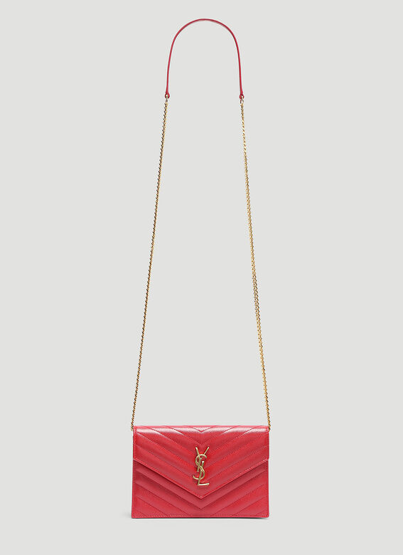 279e3a91702 Saint Laurent Envelope Chain Bag in Red | LN-CC