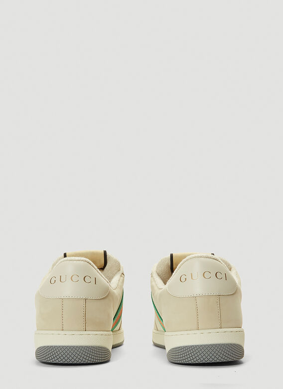 Gucci SCREENER TRAINERS NYLON AND LEATHER 4