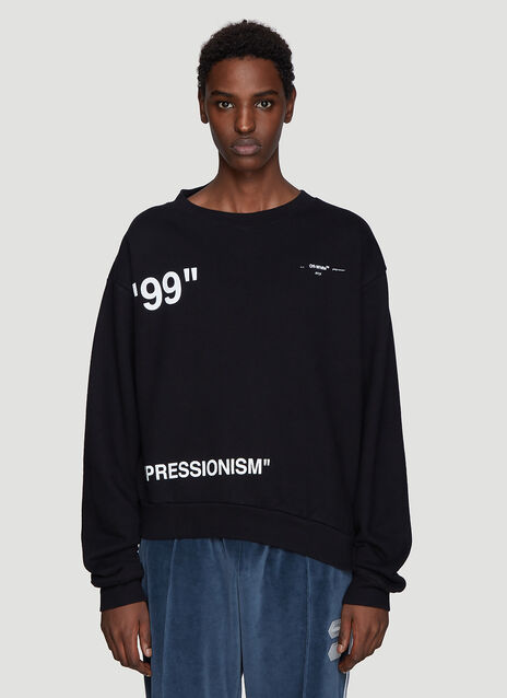 Off-White Iceman Spliced Sweatshirt