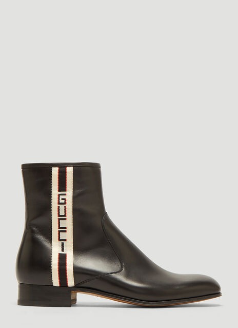 Gucci Gucci Stripe Leather Boot