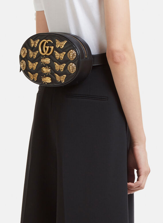 4735c78fdde0df Gucci GG 2.0 Marmont Insect Belt Bag | LN-CC
