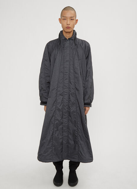 Issey Miyake Men Hooded Trench Coat