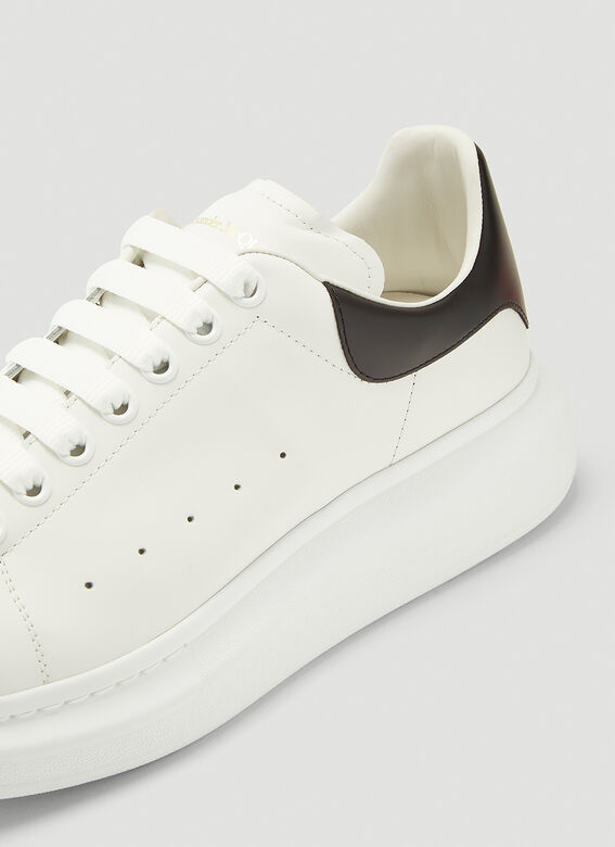 Alexander McQueen LARRY/LARRY LEATHER UPPER AND RU WHITE/BLACK 5