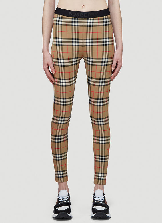 Burberry Logo Detail Vintage Check Leggings 1