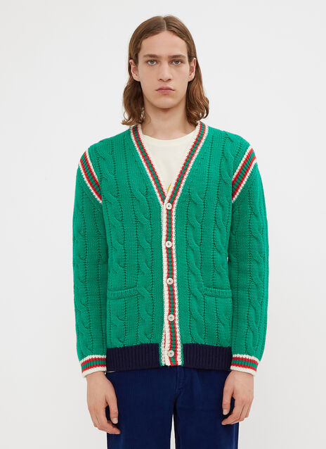 Gucci Striped Knit Cardigan