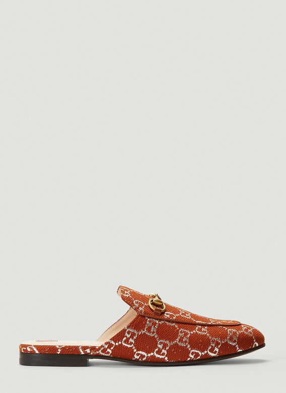 Gucci GG Princetown Loafers in Brown