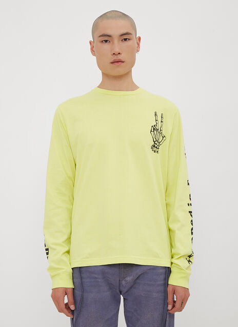 Vyner Articles Long Sleeve Skeleton Hand T-Shirt