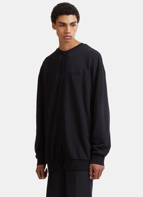 Heaven's Blade Embroidered Oversized Sweater