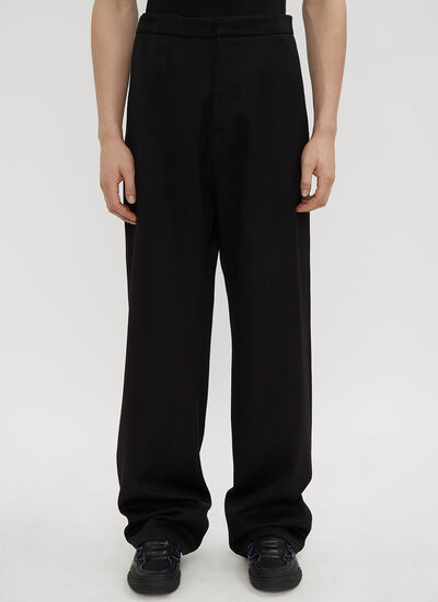 Raf Simons Elastic Back Wide Leg Pants