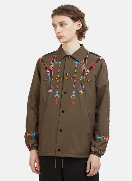 Valentino Beaded Coach Jacket