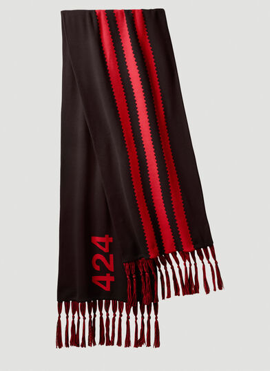 아디다스 Adidas by 424 Contrast-Stripe Scarf in Black