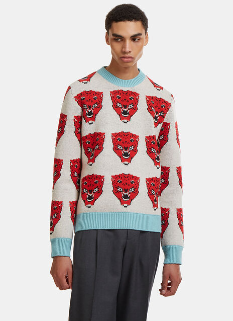 Gucci Tiger Face Knit Sweater