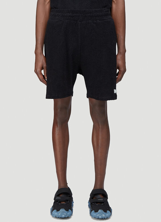 """032C """"Topos"""" Shaved Terry Shorts Black 100% CO 1"""
