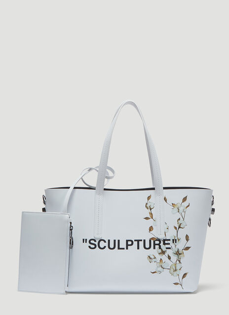 Off-White Flower Sculpture Tote Bag