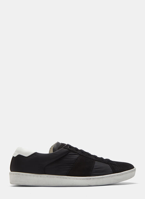 Saint Laurent SL/01 Suede and Nylon Court Classic Sneakers