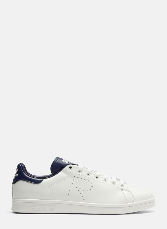 Stan Smith Sneakers In White/Navy by Adidas By Raf Simons