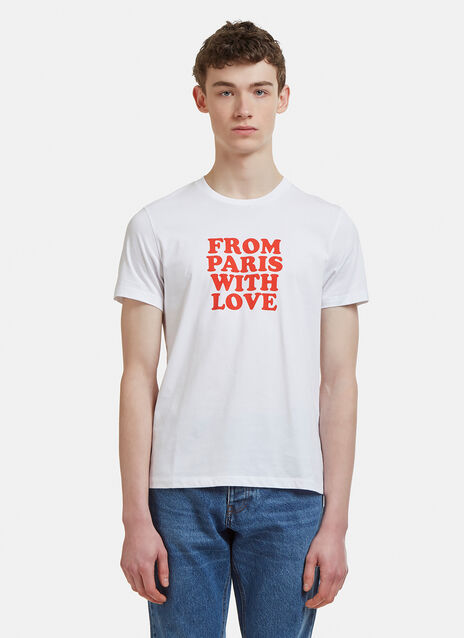 Ami From Paris With Love Graphic Print T-Shirt