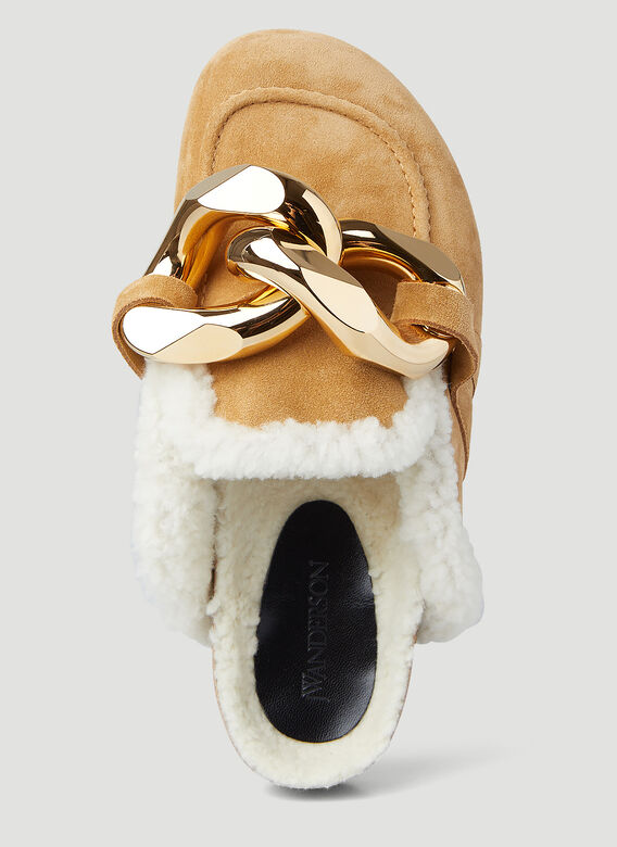 JW Anderson Chain Shearling Loafers 5