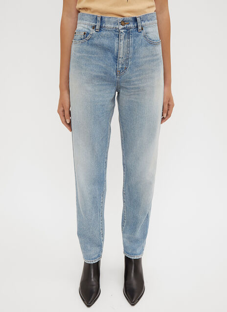 Saint Laurent Stone Wash Boyfriend Jeans