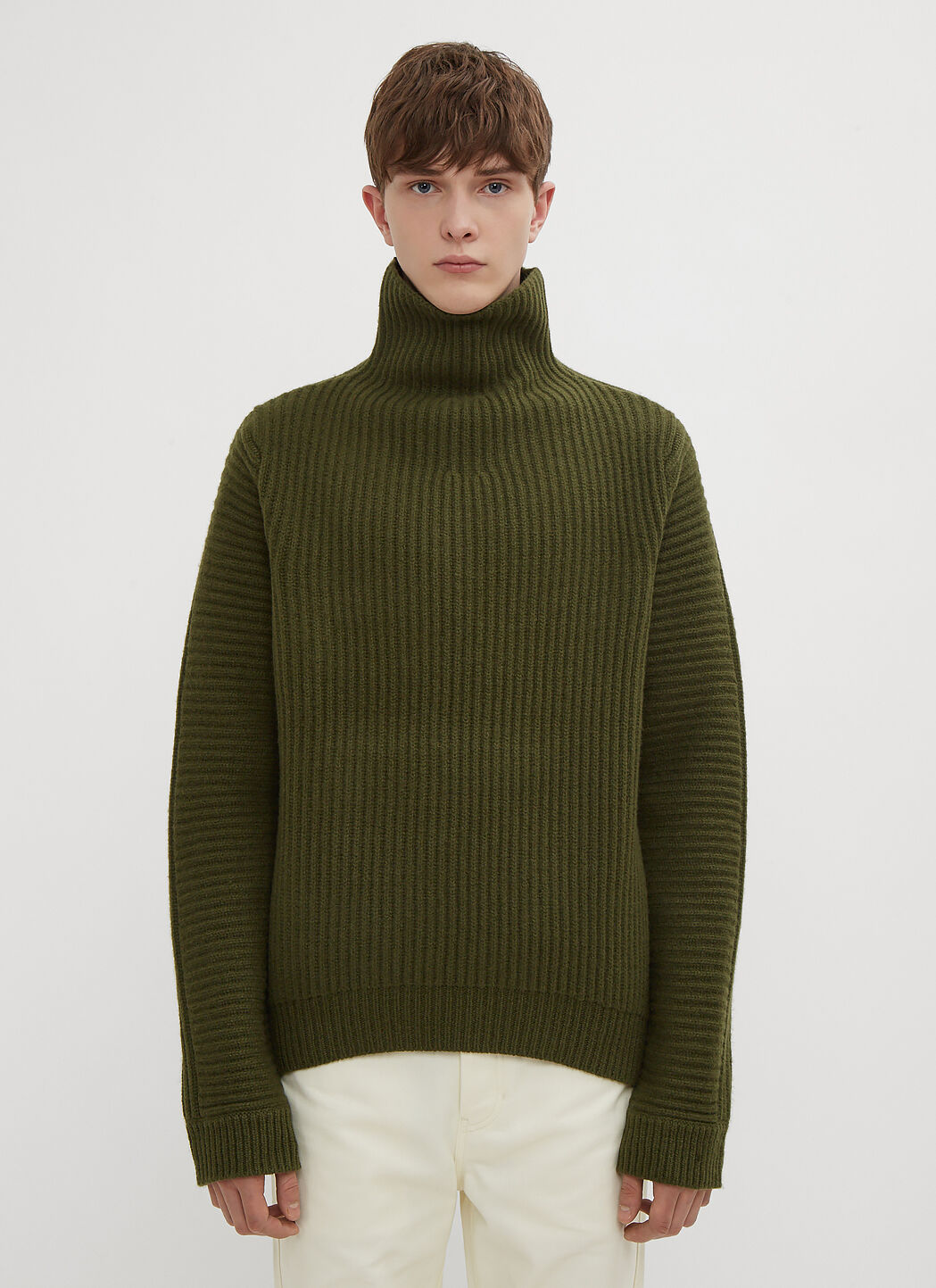 Green In Acne Ribbed Ln Studios Cc Sweater Boxy wP8XFP
