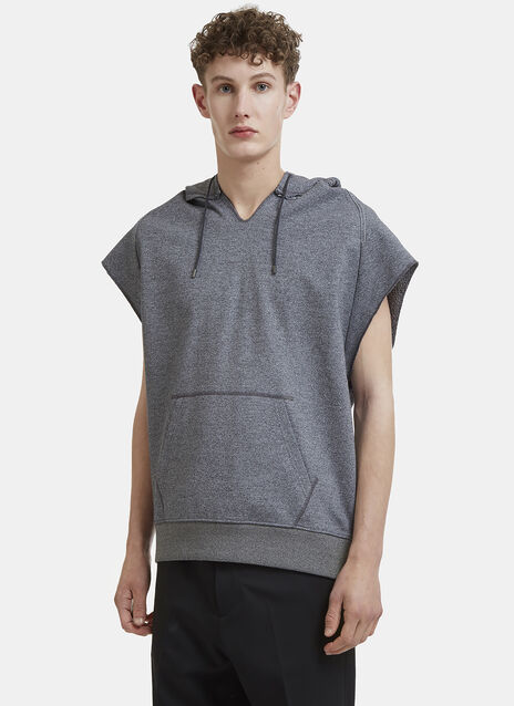 Oamc Slashed Sleeveless Hooded Sweater