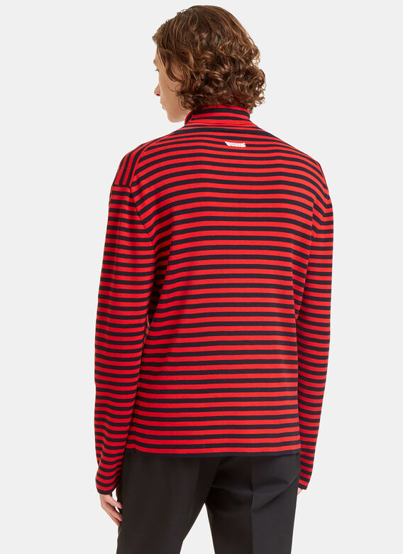 Gucci Striped Roll Neck Knit Sweater