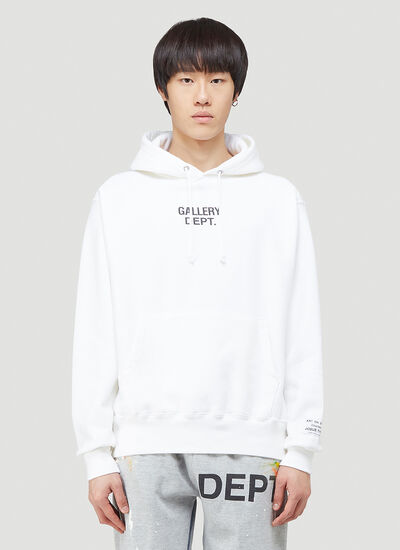 Gallery Dept. Centred Logo Hooded Sweatshirt