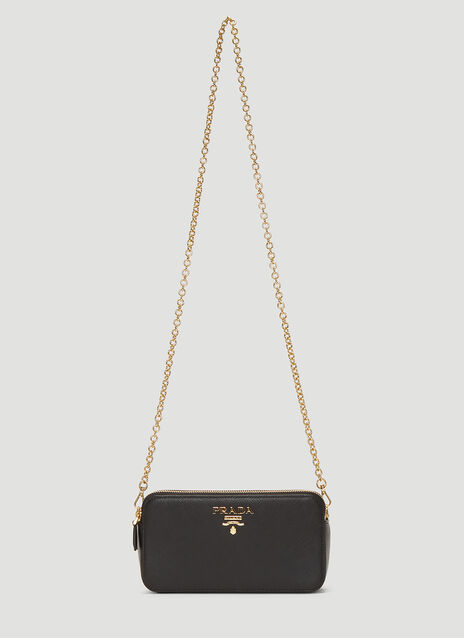 Prada Saffiano Leather Mini Shoulder Bag