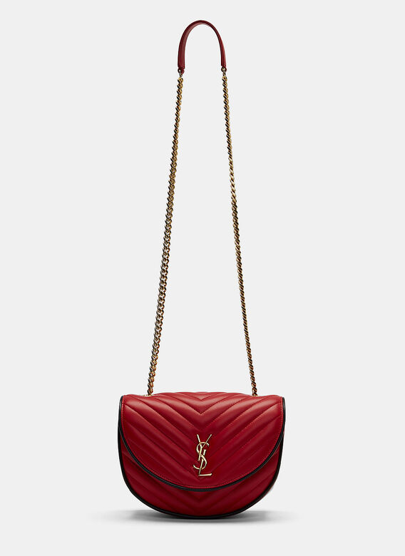 1124896cfd1 Saint Laurent. Women's YSL Monogrammed Bubble Quilted Crossbody Bag in Red