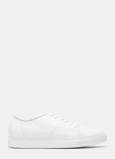 Aiezen Low-Top Grained Leather Sneakers