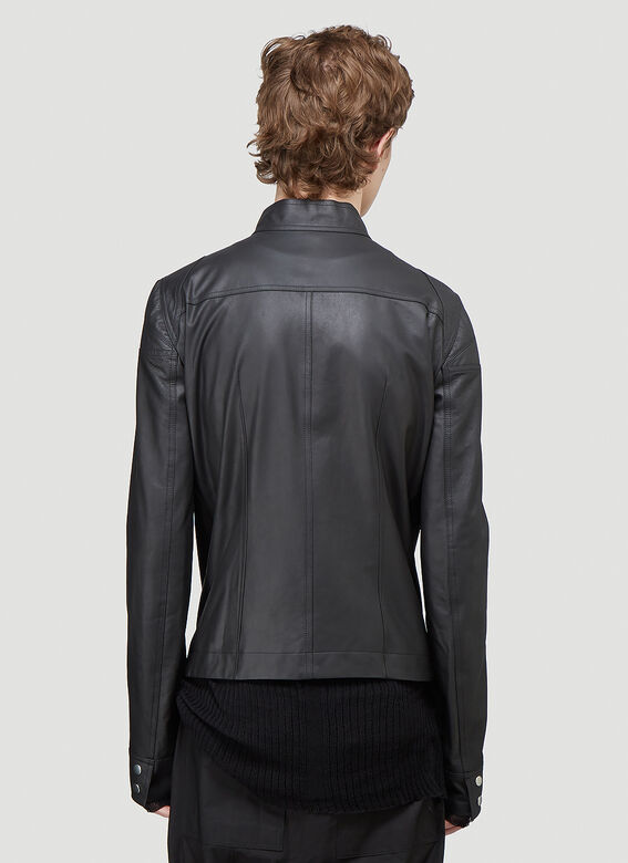 Rick Owens TIES LEATHER JACKET 4