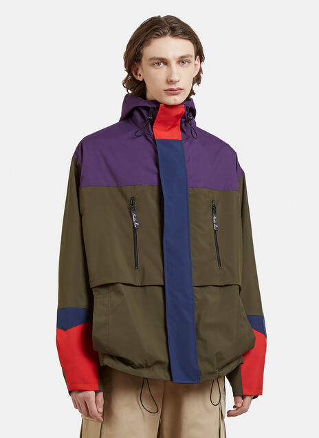 Martine Rose Hooded Patchwork Bomber Raincoat