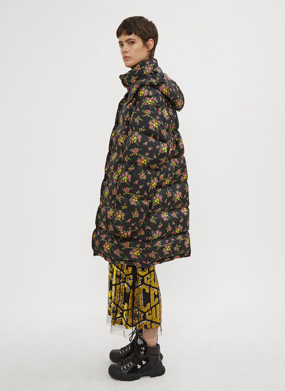 Gucci Floral Bouquets Puffer Coat