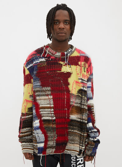 Off-White Business Casual Knit Sweater