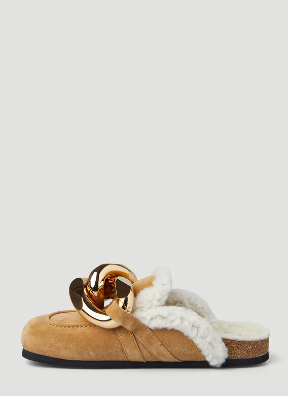 JW Anderson Chain Shearling Loafers 3