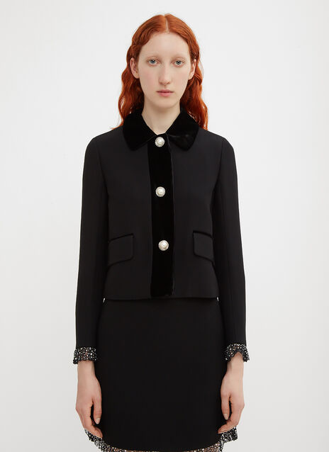 Miu Miu Cady and Velvet Jacket