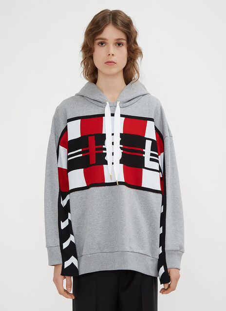 Stella McCartney Hooded Football Patchwork Sweatshirt