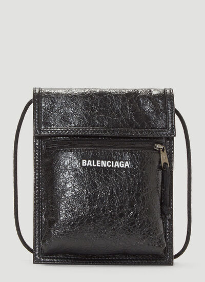 Balenciaga Explorer Pouch Leather Crossbody Bag