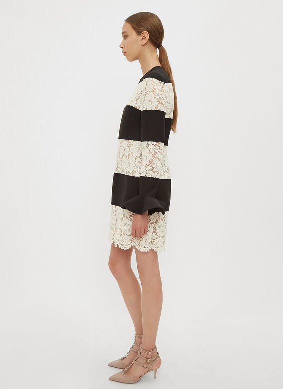 Valentino Heavy Lace and Crepe Couture Dress
