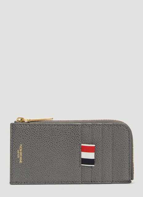 Thom Browne Bi-colour Half Zip Around Wallet